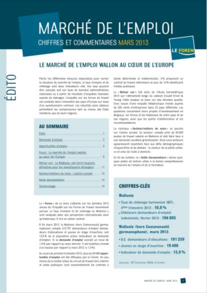Le march de lemploi wallon