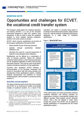 Opportunities and challenges for ECVET