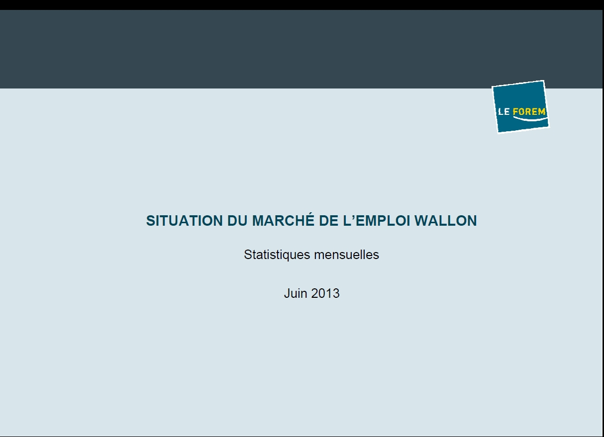 Situation du march de lemploi wallon juin 2013