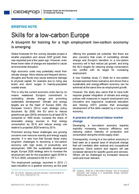 Skills for a low-carbon Europe