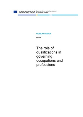 the role of qualifications in governing occupations and professions